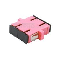 Bild von SC/UPC auf SC/UPC 10G Duplex OM4 Multimode LWL-Adapter/Führungshülse aus Kunststoff mit Flansch, Violett