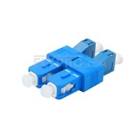 Bild von LC/UPC Buchse auf SC/UPC Stecker Duplex Singlemode LWL-Adapter aus Kunststoff