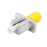 Bild von ST auf LC Hybrid Simplex LWL-Adapter aus Metall, Buchse auf Buchse