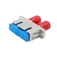 Bild von ST-SC Hybrid Duplex LWL-Adapter aus Metall, Buchse auf Buchse