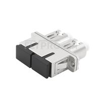 Bild von LC-SC Hybrid Duplex SM/MM LWL-Adapter aus Metall, Buchse auf Buchse