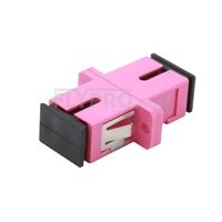 Bild von SC/UPC auf SC/UPC 10G Simplex OM4 Multimode LWL-Adapter/Führungshülse aus Kunststoff mit Flansch, Violett