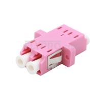 Bild von LC/UPC auf LC/UPC 10G Duplex OM4 Multimode SC Fußabdruck LWL-Adapter/Führungshülse aus Kunststoff mit Flansch, Violett