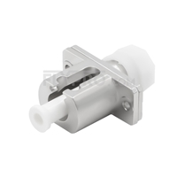 Bild von FC auf LC Hybrid Simplex LWL-Adapter aus Metall, Buchse auf Buchse
