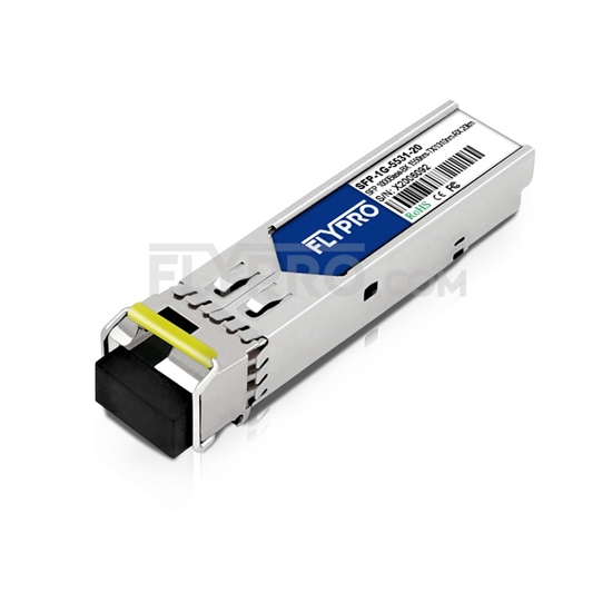 Picture of Moxa SFP-1G20BLC Compatible 1000Base-BX SFP 1550nm-TX/1310nm-RX 20km SMF(LC Single) DOM Optical Transceiver