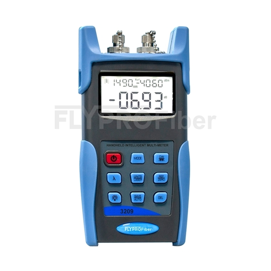 Picture of FLYPROFiber OPM-209C Power Meter + Laser Source Handheld Optical Multimeter with 2.5mm FC/SC/ST Connector