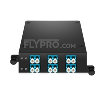 Picture of MTP®-12 to 6x LC Duplex, Type A, 12 Fibers OS2 Single Mode FHD MTP® Cassette