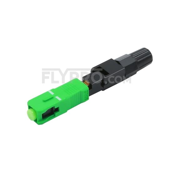 صورة SC / APC النوع A Singlemode 0.9 / 2.0 / 3.0mm موصل قبل التجميع الطويق الميداني موصل سريع / سريع