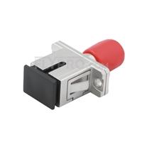 Bild von ST-SC Hybrid Simplex Singlemode LWL-Adapter aus Metall, Buchse auf Buchse