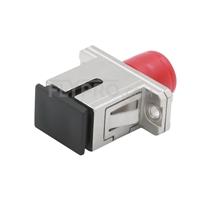 Bild von FC-SC Hybrid Simplex Kupfer LWL-Adapter/Führungshülse, Buchse auf Buchse